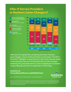 CIOs: IT Service Providers or Business Game-Changers? 100 90