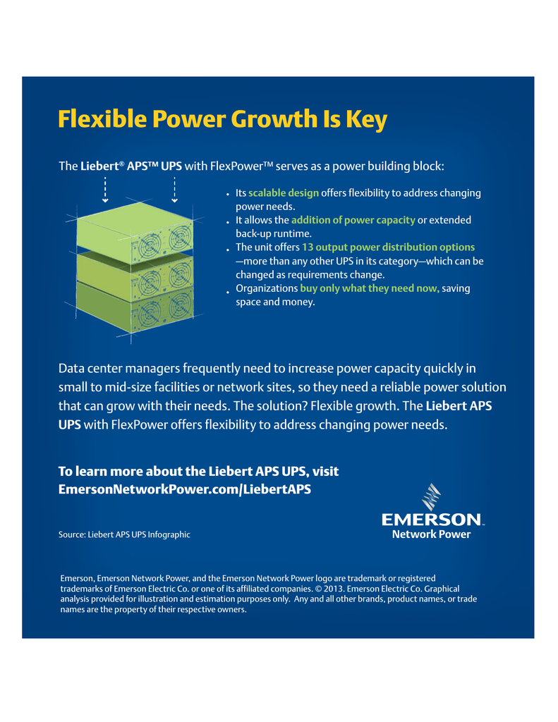 Flexible Power Growth Is Key Liebert APS™ UPS