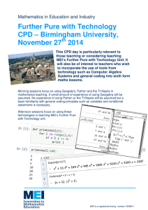 Further Pure with Technology CPD – Birmingham University, November 27 2014