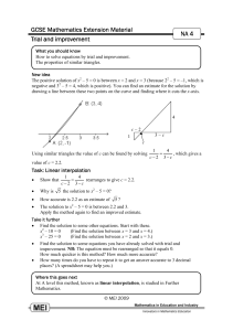 GCSE Mathematics Extension Material NA 4
