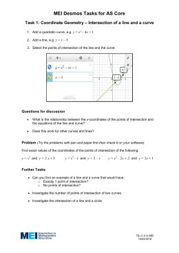 MEI Desmos Tasks for AS Core Task 1: Coordinate Geometry