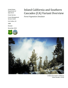Inland California and Southern Cascades (CA) Variant Overview Forest Vegetation Simulator