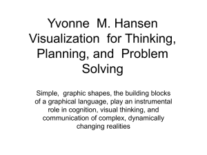 Yvonne  M. Hansen Visualization  for Thinking, Planning, and  Problem Solving