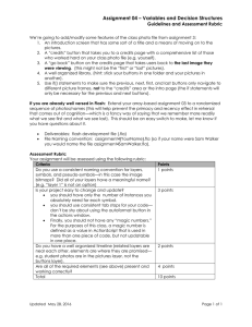 Assignment 04 – Variables and Decision Structures Guidelines and Assessment Rubric