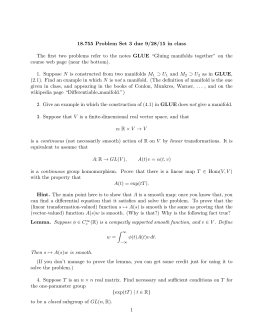 18.755 Problem Set 3 due 9/28/15 in class