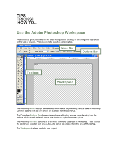 Use the Adobe Photoshop Workspace