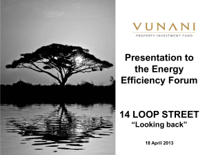Presentation to the Energy Efficiency Forum