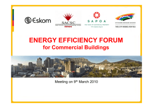 ENERGY EFFICIENCY FORUM for Commercial Buildings Meeting on 9 March 2010
