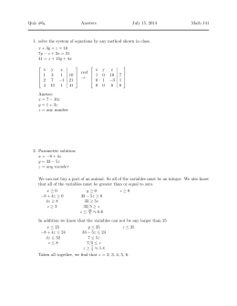 Quiz #6 Answers July 15, 2014 Math 141