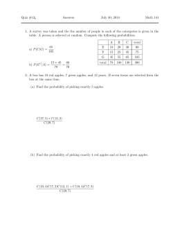 Quiz #12 Answers July 30, 2014 Math 141
