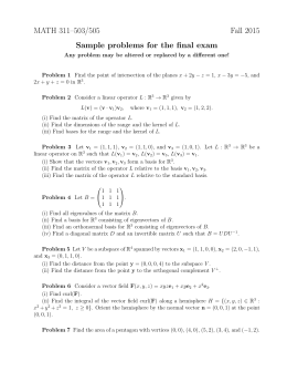 MATH 311–503/505 Fall 2015 Sample problems for the final exam