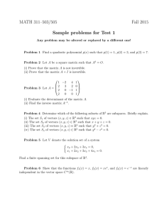 MATH 311–503/505 Fall 2015 Sample problems for Test 1
