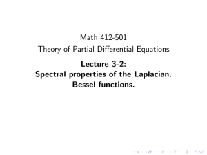 Math 412-501 Theory of Partial Differential Equations Lecture 3-2: