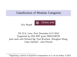 Classification of Modular Categories