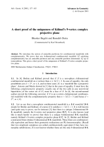 A short proof of the uniqueness of KuÈhnel's 9-vertex complex