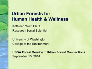 Urban Forests for Human Health & Wellness