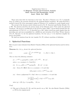 Supplementary Notes to: S. Helgason: Groups and Geometric Analysis