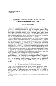 A FORMULA FOR THE RADIAL PART OF THE LAPLACE-BELTRAMI OPERATOR
