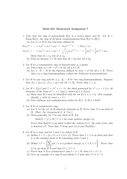 Math 653 Homework Assignment 7