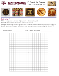 Pi Day of the Century 3-14-15 @ 9:26:53 AM Estimating Pi
