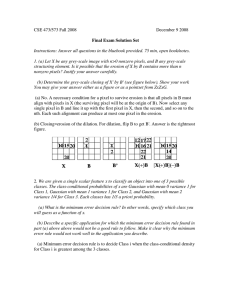 CSE 473/573 Fall 2008  December 9 2008 Final Exam Solution Set