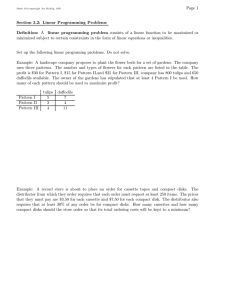 Page 1 Section 3.2: Linear Programming Problems