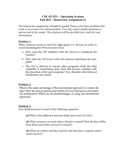 CSE 421/521 – Operating Systems Fall 2013 - Homework Assignment #1