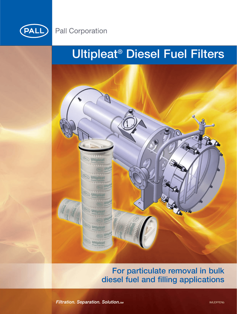 Ultipleat Diesel Fuel Filters For Particulate Removal In Bulk Peterson