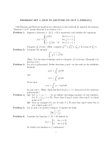 PROBLEM SET 4 (DUE IN LECTURE ON OCT 9 (FRIDAY))
