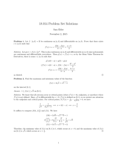 18.014 Problem Set Solutions Sam Elder November 2, 2015