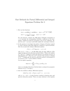 Fast Methods for Partial Differential and Integral Equations Problem Set 3