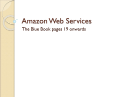 Amazon Web Services The Blue Book pages 19 onwards