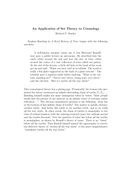 An Application of Set Theory to Cosmology