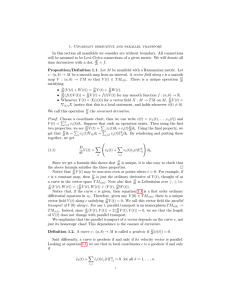 1. Covariant derivative and parallel transport