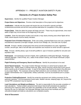 APPENDIX 11 – PROJECT AVIATION SAFETY PLAN