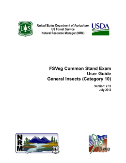 FSVeg Common Stand Exam User Guide General Insects (Category 10)