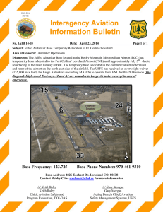 Information Bulletin  Interagency Aviation