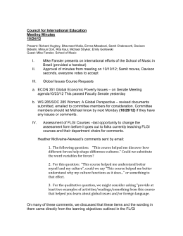 Council for International Education Meeting Minutes 10/24/12