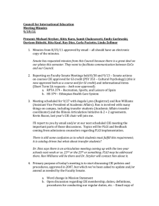 Council for International Education Meeting Minutes 9/19/11