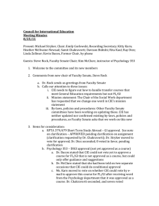 Council for International Education Meeting Minutes 8/25/11