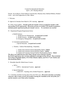 Council for International Education April 1, 2011 Meeting Minutes
