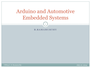 Arduino and Automotive Embedded Systems 1