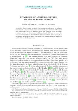 b3b724bf6df1 g ON LINEAR FRAME BUNDLES Oldřich Kowalski and Masami Sekizawa