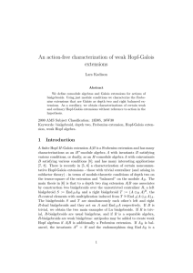 An action-free characterization of weak Hopf-Galois extensions Lars Kadison