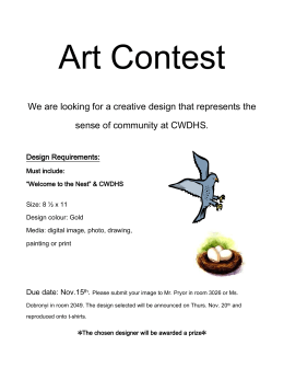 Art Contest sense of community at CWDHS.