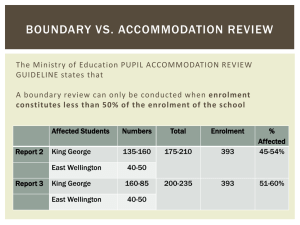 BOUNDARY VS. ACCOMMODATION REVIEW GUIDELINE states that