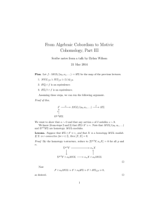 From Algebraic Cobordism to Motivic Cohomology, Part III 21 Mar 2014
