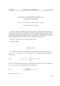 ON STRONG STARLIKENESS CRITERIA OF p-VALENT FUNCTIONS (