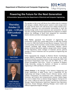 Powering the Future for the Next Generation Thursday,