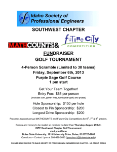 & SOUTHWEST CHAPTER FUNDRAISER GOLF TOURNAMENT